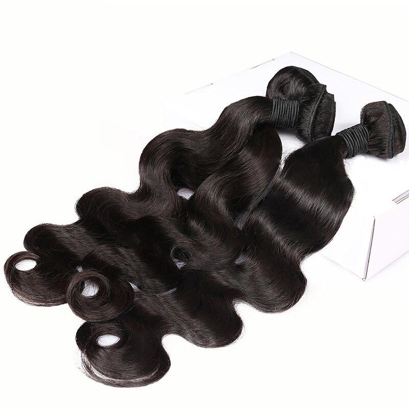 Перуанські Діви Волосся Ткать Пучки - Людське волосся (чорне) - фото 5