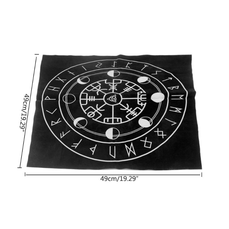High Quality 49x49cm Tarot Tablecloth Triple Moon Pentagram Pagan Altar Tarot Cloth Flannel
