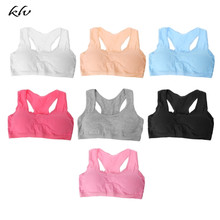 Cotton Young Girls Kid Underwear For Sport Wireless Small Training Puberty Bras цена 2017