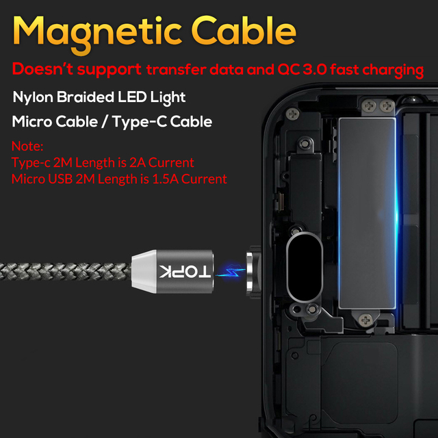 LED Magnetic USB Cable for iPhone