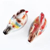 Modern DecorationCeramic Mandarin Duck Home Furnishing Chinese Ancient Ceramic Crafts Creative Wedding Gifts Couple