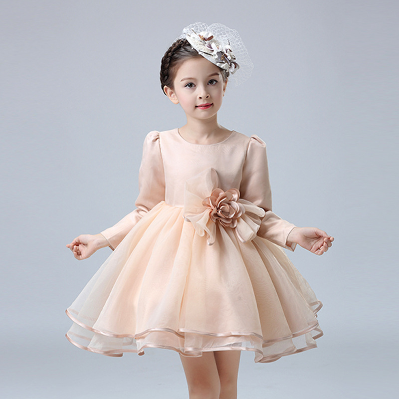 Princess Flower Girl Dress Summer Tutu Wedding Birthday Party 2018 Christmas Kids Dresses Girls Clothes birthday Children Dress sunny fashion girls dress birthday cupcake polka dot birthday princess 2018 summer wedding party dresses kids clothes size 3 8