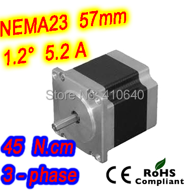 цена на 30 pieces per lot 3 phase step motor 23HT17-5206S L 42 mm Nema 23 with 1.2 deg 5.2 A 45 N.cm and unipolar 6 lead wires