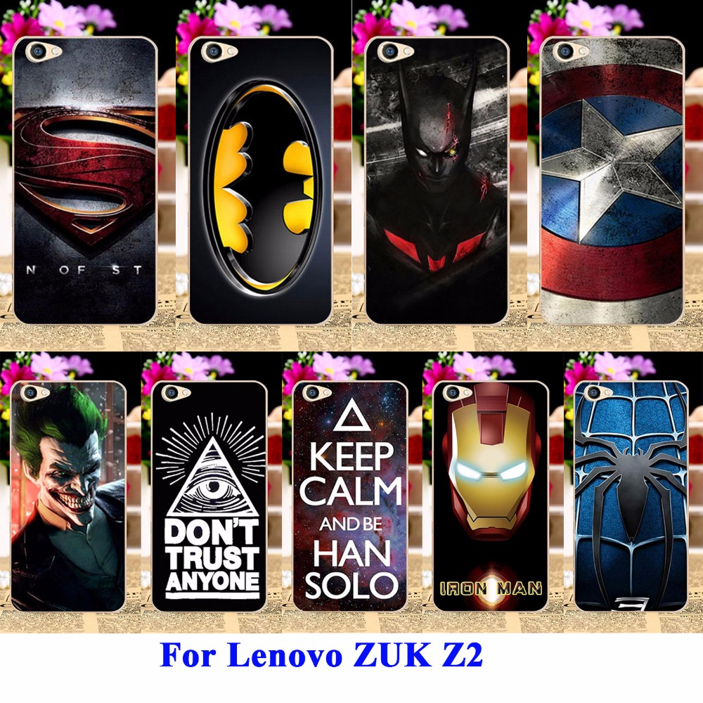 Cell Phone Cases For Lenovo ZUK Z2 5.0 inch Housing Covers Skin Protector Sheath Durable Back Shell Captain American Batman Bags