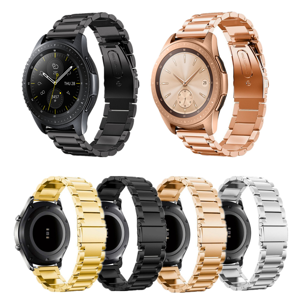<font><b>20mm</b></font> 22mm Stainless Steel Metal Watch <font><b>Band</b></font> <font><b>For</b></font> Samsung Galaxy Watch 46mm Strap <font><b>For</b></font> Xiaomi Huami <font><b>Amazfit</b></font> Bip Youth/Pace/Stratos image