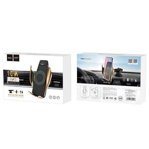 Image 5 - Hoco Không Dây Cảm Biến Tự Động Giá Đỡ Điện Thoại Trên Xe Ô Tô Và Sạc Cho iPhone XS XR X Samsung S10 Tự Động Kẹp Gắn Trong xe Ô Tô Kèm Sạc