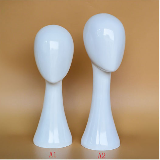 À la mode Long Cou Femelle tête de mannequin Blanc Couleur offre spéciale