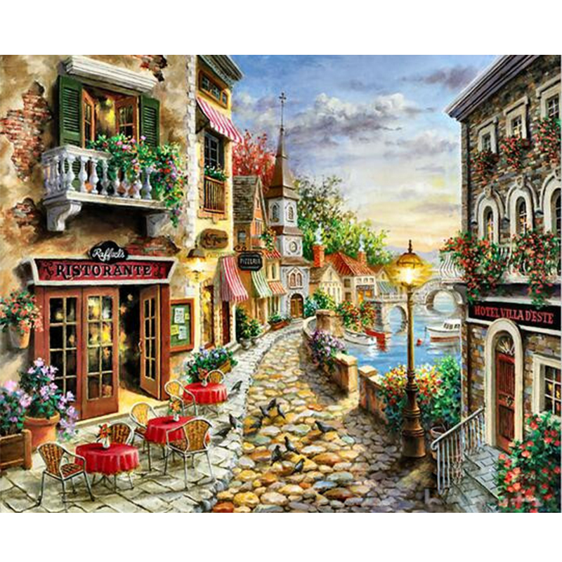 Castle Path Hand Made Paint High Quality Canvas Beautiful Painting By Numbers Surprise Gift Great Accomplishment