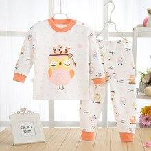 Pijamas Kids Pijama sets Cotton pyjamas kids Baby boy girl printing Pajamas tshirt+pants clothing set sleepwear shoulder opening
