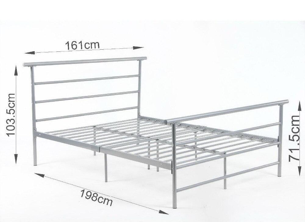 5FT2 doble de Metal marco de la cama nueva somier en Camas de ...