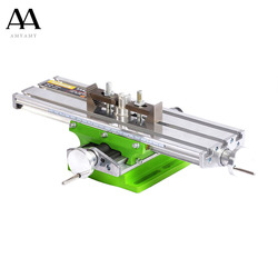 AMYAMY Mini Mesa multifuncional de trabajo cruzado Mesa compuesta mesa de trabajo para taladro fresadora 6330 Barco de EE. UU.