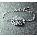 Monogram Bracelet, 3 initial jewelry,  Customized  Bracelet, Initial Bangle Bracelet, silver jewelry  perfect bracelet