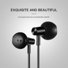 OwnFone W-100 wired headset big speaker with microphone in-ear subwoofer Android IOS universal earbuds ear phone