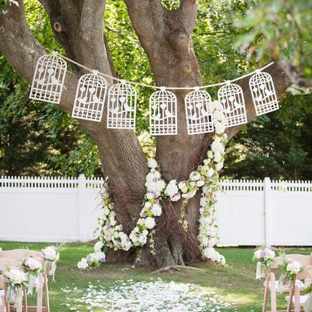 Lazer Cut Love Birds Design Vintage Wedding Bunting Banner Photo Booth  Props Garland Bridal Shower Wedding