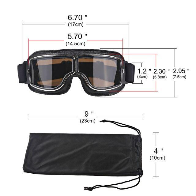 Herorider Universal Vintage Motorcycle Goggles Pilot Aviator Motorbike Scooter Biker Glasses Helmet Goggles Foldable For Harley 1