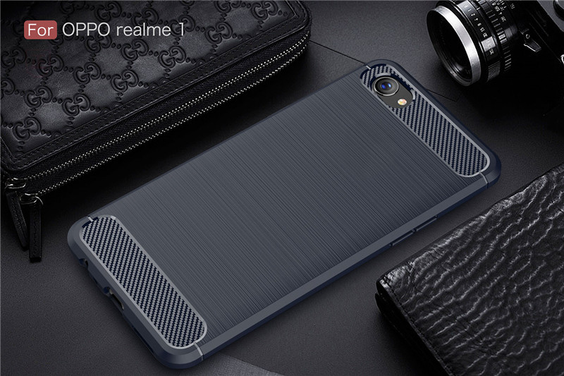 Carbon Fiber Case For OPPO Realme 1 2 Pro C1 Ultra Slim Soft TPU Silicone Shockproof Back Cover For OPPO F9 F7 Youth A7X A3S A5