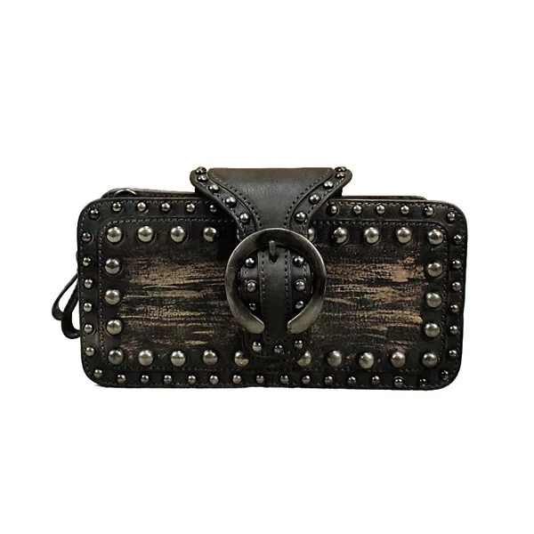 2018 Punk Style Genuine Leather Women s Small Flap Bag Vintage Cowskin Female  Studs Purse Sling Bag 53ac74f706bc