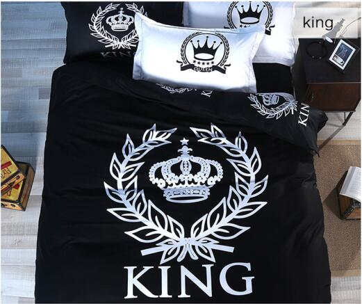 King Queen Crown Featured 100 Cotton 3pcs4pcs Kids Adult Black And