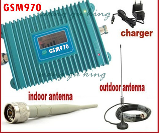 Free Shipping LCD Display 1500sq.m ,GSM Repeater,900Mhz Booster,GSM Signal Booster,GSM Signal Repeater + Antenna With 10M Cable