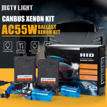 MGTV LIGHT 55W Xenon HID Kit Canbus Error Canceller H1 H3 H4 H7 H11 H27 9012 D2H Car Headlight Fog Light Digital Ballast Reactor new one pair of d2 hid xenon kit computer error warning canceller decoder proficient motor vehicles test tool