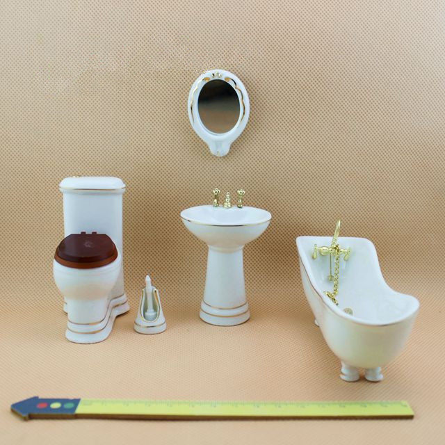 112 Cute MINI Dollhouse Miniature Bathroom Set2