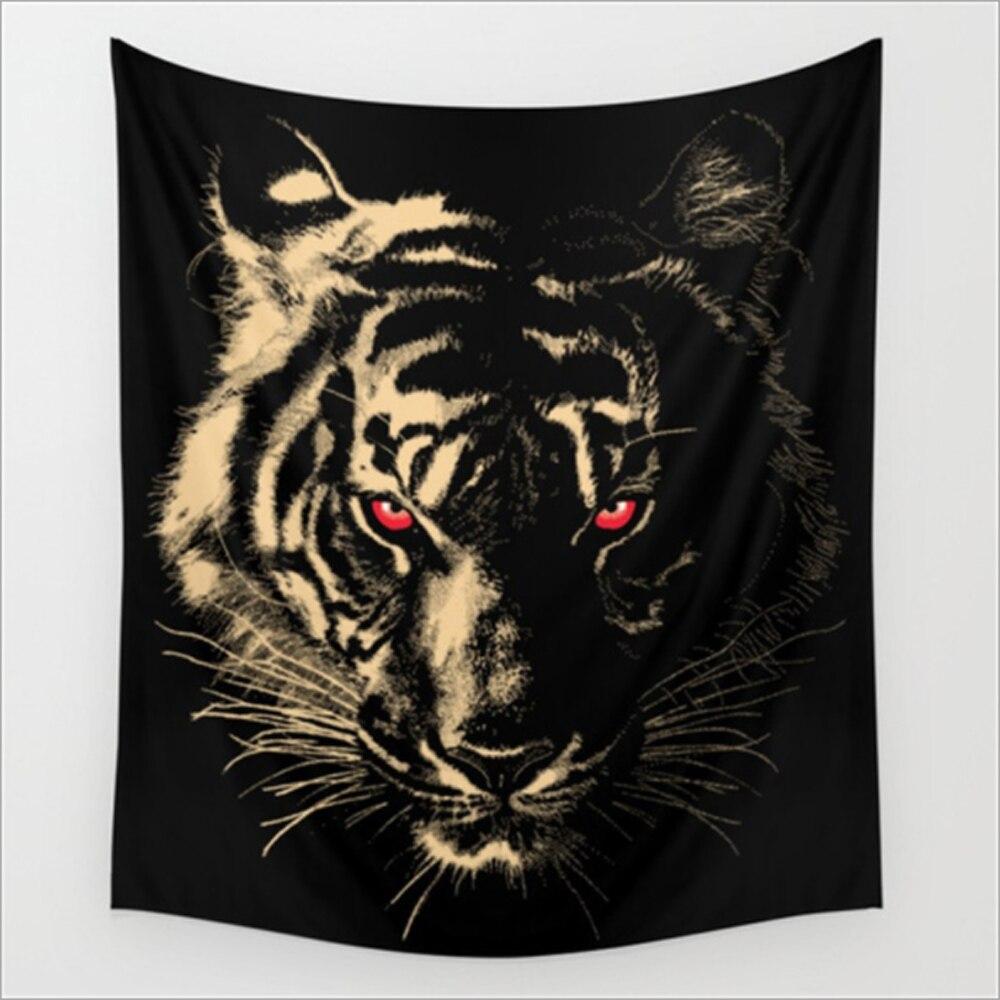 Cartoon Animal Head Design Tiger Wolf Bear Pattern