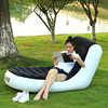 A,L-shape Foldable Chaise Lounge Chair Lazy sofa bed PVC flocking double inflatable sofa outdoor inflatable sofa 165*84*79 3
