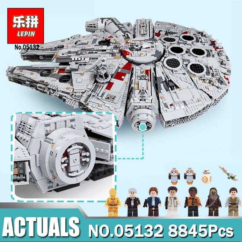 Dropshipping Lepin 05132 Milennium Modèle Falcon compatible LegoINGlys 75192 Guerres sur Étoiles Briques Modèle Enfants Drôle Jouets