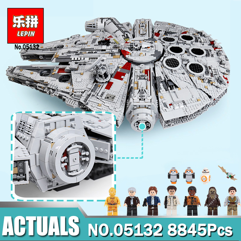 lepin 05132 star wars star destroyer millennium falcon compatible with LegoINGlys 75192 starwars bricks model building blocks lepin star wars millennium falcon special forces fighter starwars building blocks sets bricks classic model compatible legoings