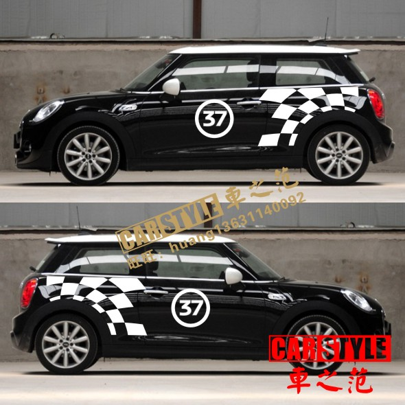 brand new oracal style car body sticker jcw pattern for mini cooper