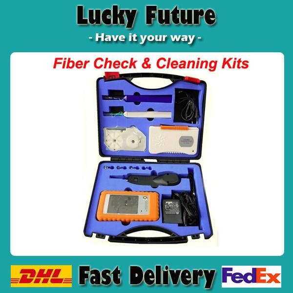 imágenes para Compruebe y Kits De Limpieza de fibra Óptica Sonda de Inspección de Fibra Microscopio Video Cleaner Pen Limpiador de Caja