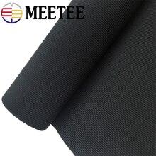 Meetee 10/15/20/25/30/40/50cm Black White Crochet Belt Elastic Band Strap for Maternal Abdomen Wrist Waist DIYSewing Rubber Band