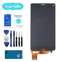 Para sony xperia z3 compact pantalla lcd z3 mini lcd D5803 D5833 pantalla táctil digitalizador Asamblea + Adhesivo + Herramientas + Templado película