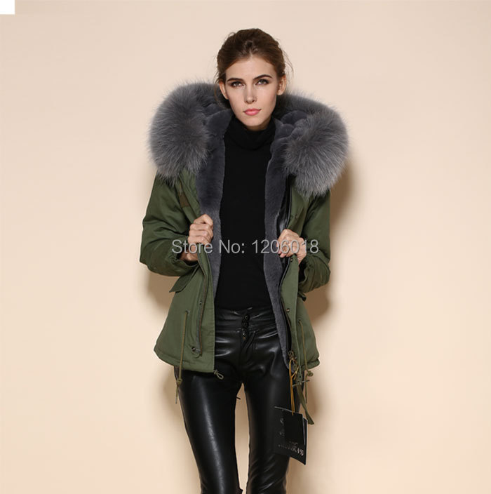 Aliexpress.com : Buy large collar grey raccoon collar fur coat ...