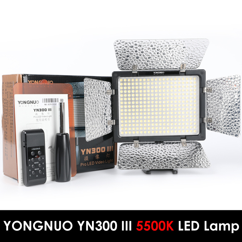 Yongnuo YN300 III YN-300 III 5500K CRI95+ Pro LED Video Light with Remote Control,Support AC Power Adapter & APP RemoteYongnuo YN300 III YN-300 III 5500K CRI95+ Pro LED Video Light with Remote Control,Support AC Power Adapter & APP Remote