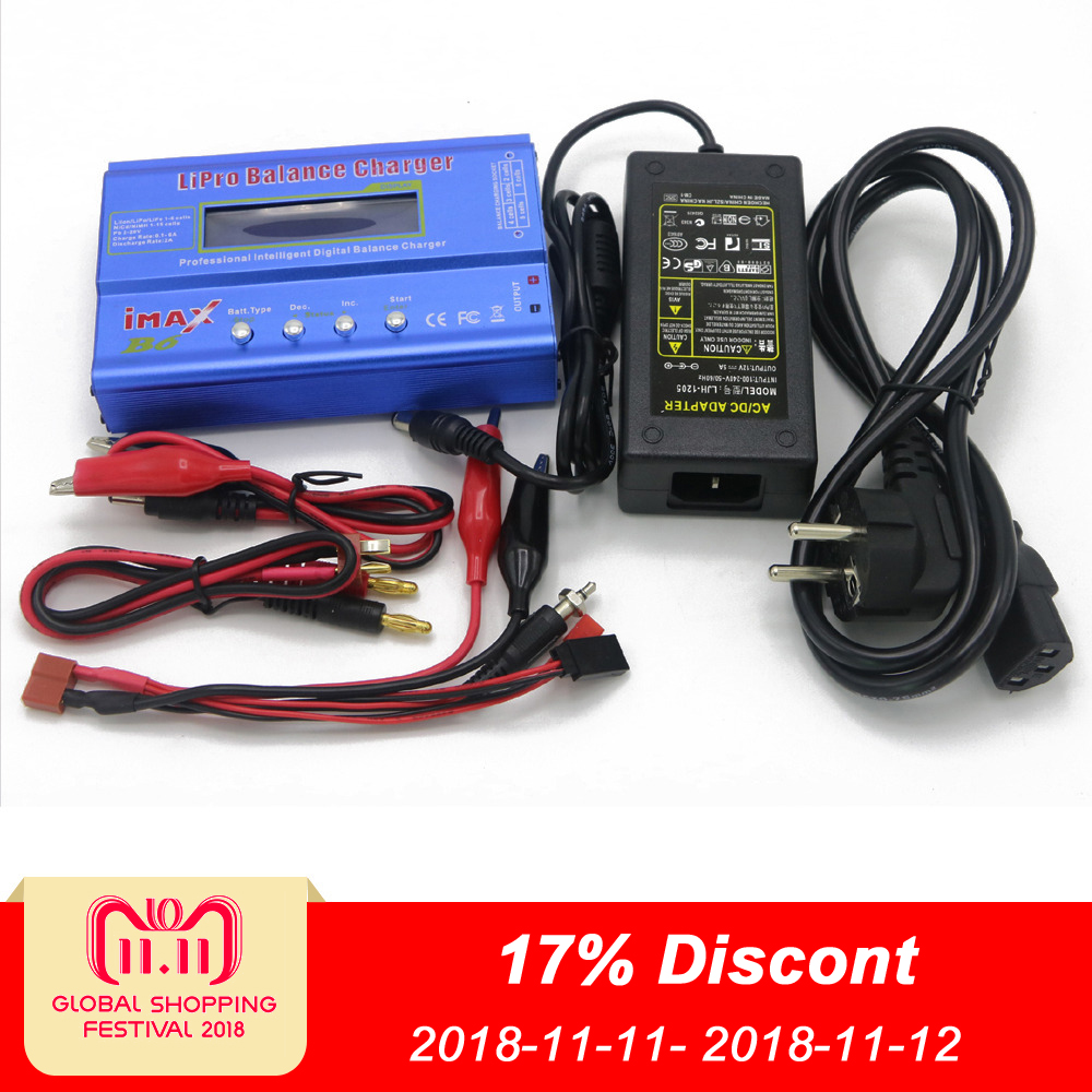 купить IMAX B6 Digital RC Lipo NiMh Battery Balance Charger+AC POWER 12v 5A Adapter Drop free shipping по цене 661.81 рублей