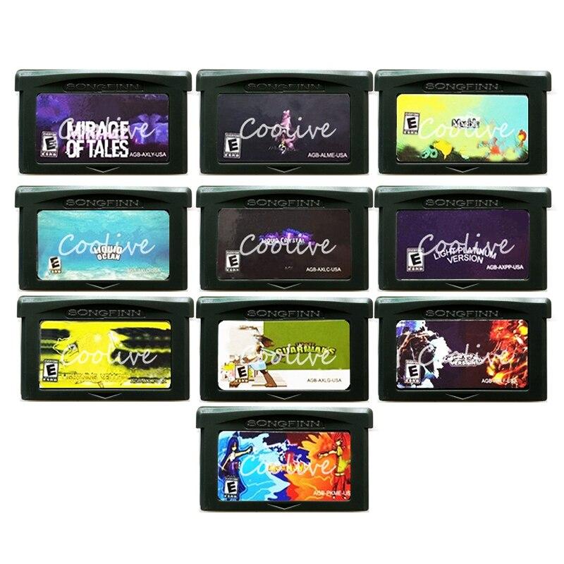 Light Platinum Liquid Crystal Liquid Ocean Moemon Memory Cartridge Accessories for 32 Bit Video Game Console