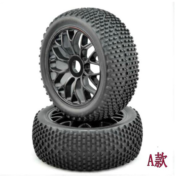 4PCS 17mm Hub Wheel Rims & Tires 1:8 Off-Road RC Car Buggy Tyre 4pcs 1 9 rubber tires