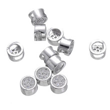 High Quality Micro Pave Jewelry Zircon Beads For Jewelry Making Diy Crafts Big Hole Spacer Beads Bijoux Kralen 20PCS CHF118