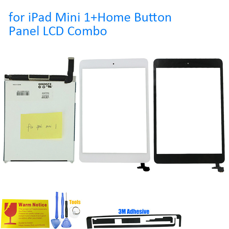 Подробнее о ALANGDUO for iPad Mini 1 A1432 A1454 A1455 LCD Display with Touch Screen Digitizer Panel Replacement with Home Button IC for ipad mini 1 a1455 a1454 a1432 lcd screen display for ipad mini 2 mini 3 lcd display screen parts 100