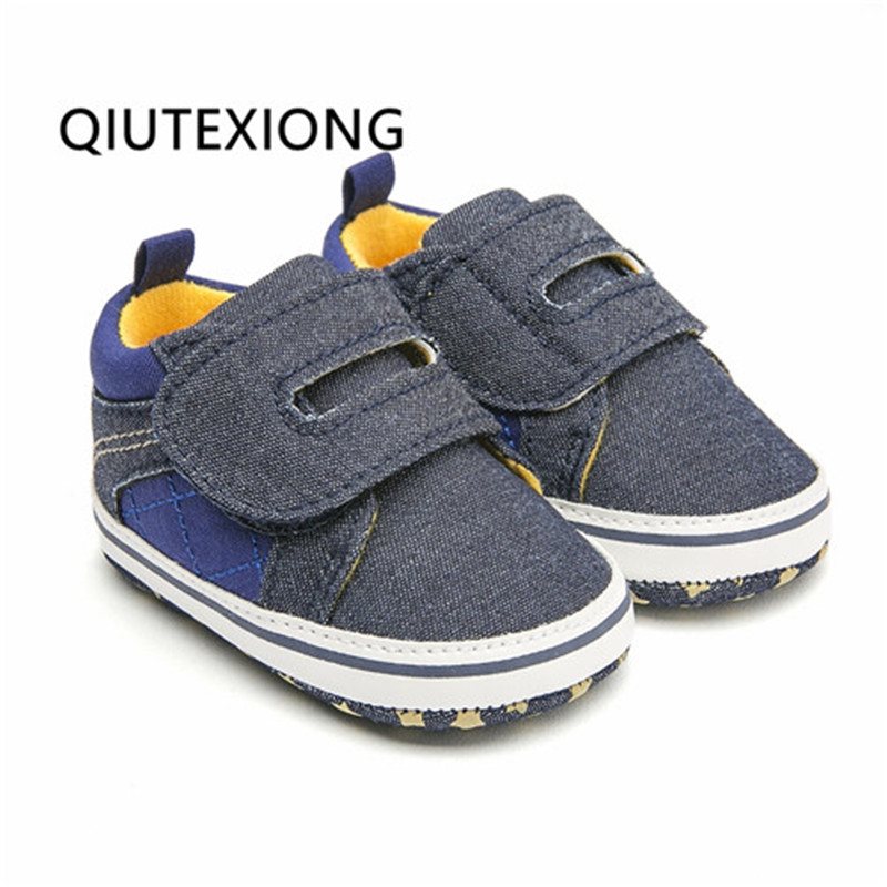 Baby Moccasins Navy Jeans Ankle Boots Soft Sole Shoes For Baby Boy Crib Shoes Bukle Strap Bebek Ayakkabi Newborn Infant Shoes