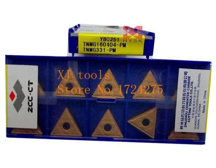 10pcs ZCC.CT TNMG160404-PM  YBC251 TNMG331-PM
