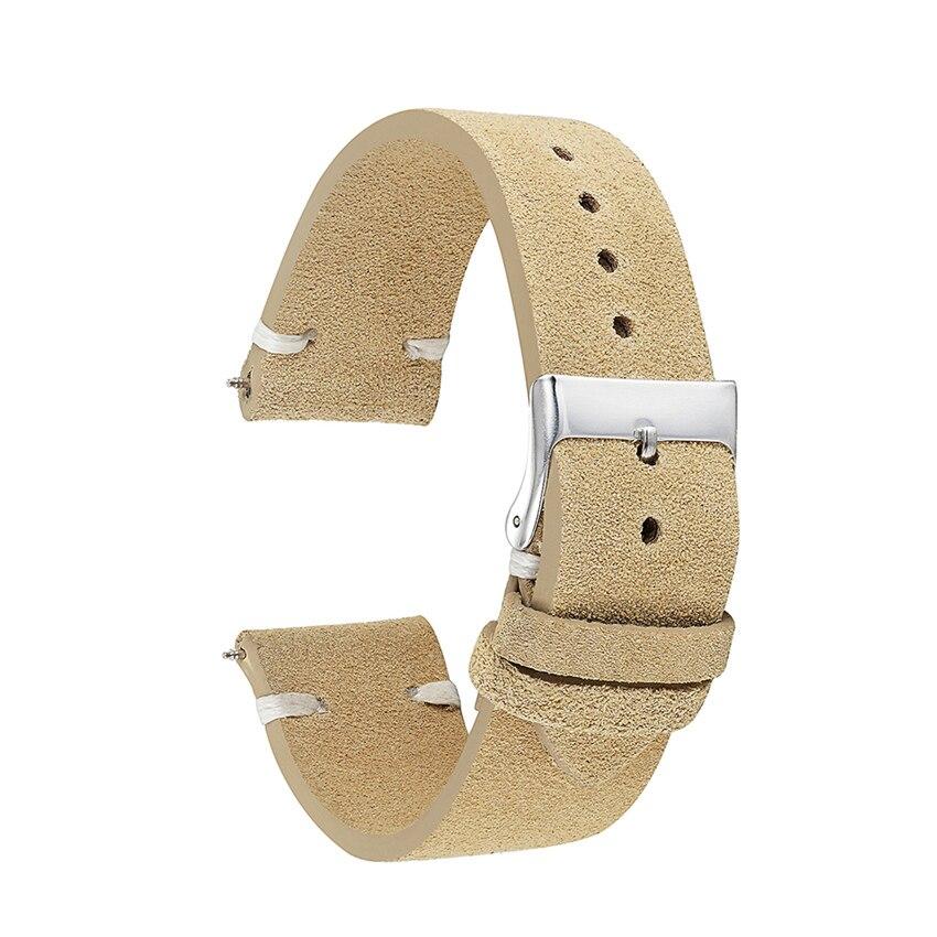camurça pulseira de couro genuíno 18mm 20mm