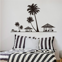 Palm trees wall sticker decals DIY home decoration