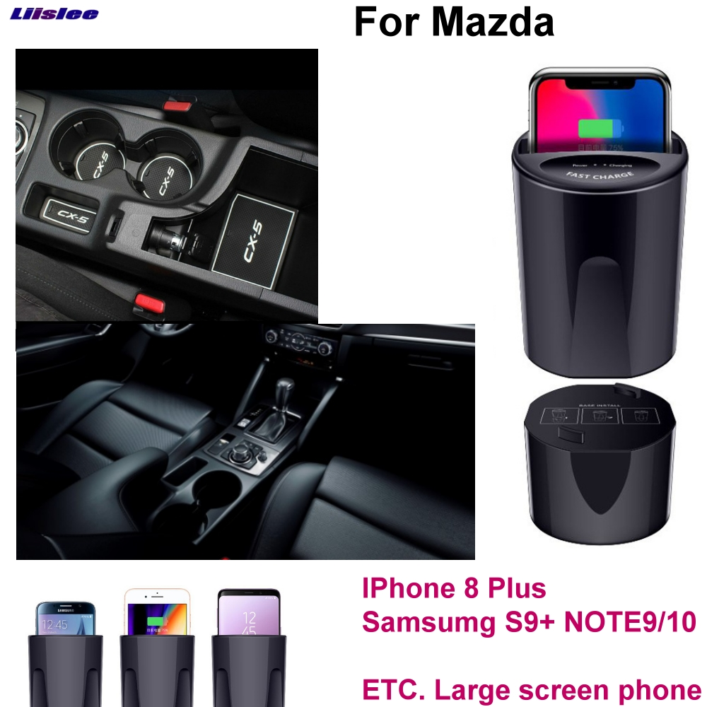 Car Qi Fast Wireless Charging Phone Holder Fast charger For Mazda Axela CX 3 4 5