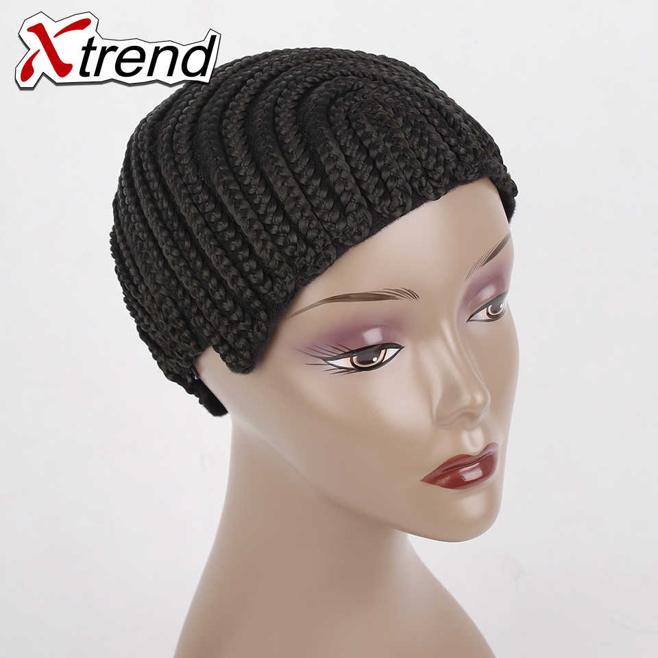 1-10pcs best quality black Cornrow Wig Caps Easier Sew In Hair Adjustable Strap elastic glueless caps For Hair Braiding Xtrend