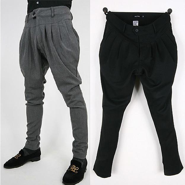 Cair calças virilha homens moletom calças Hip hop Harem baggy Harem calças jogger preto cinza ml XL XXL
