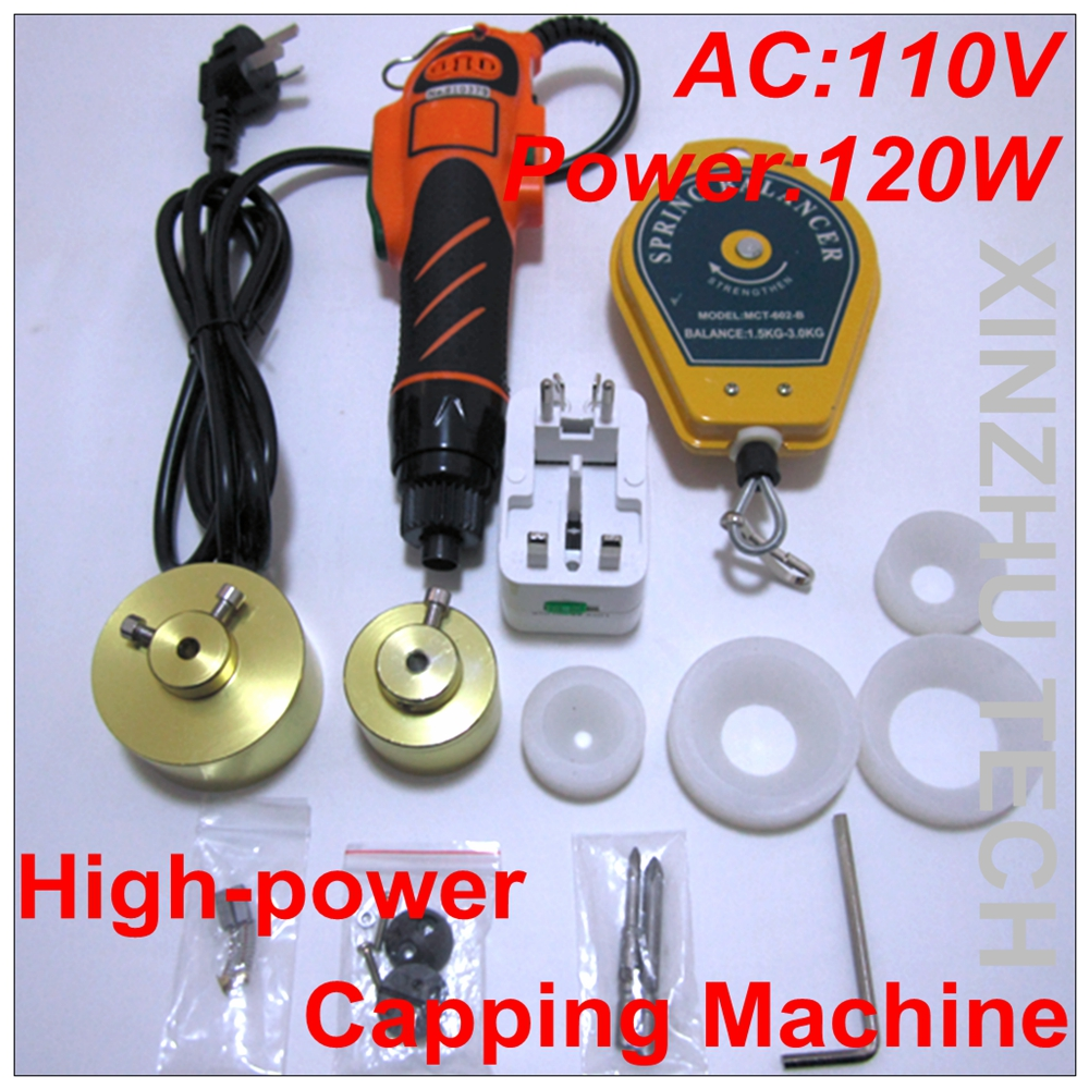 New Arrival Capper High-power Capping Machine Precsion Screwdriver with 110V for 10-50mm Cap With Screw Driver new original capping station ink pad unit for printer pro 4400 4450 4800 4880c 4880 capping top cap assy