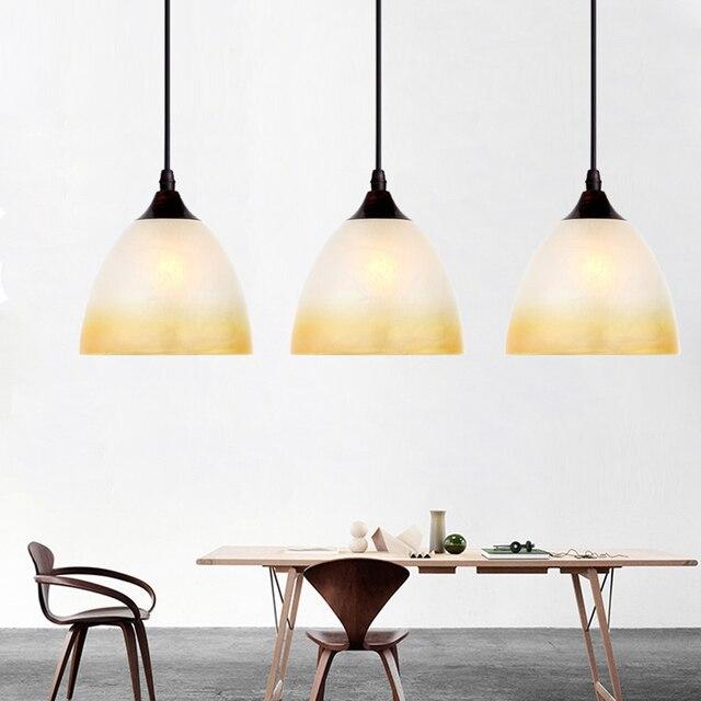 Modern Glass Shade Dining Room Pendent Light Restaurant Hanging - Table top lamps for restaurants