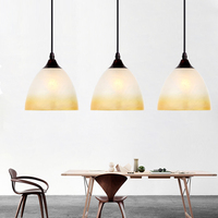 Modern Glass Shade Dining Room Pendent light Restaurant Hanging Lamps Metal Top Kitchen Room Bar Counter Pendant Lamps